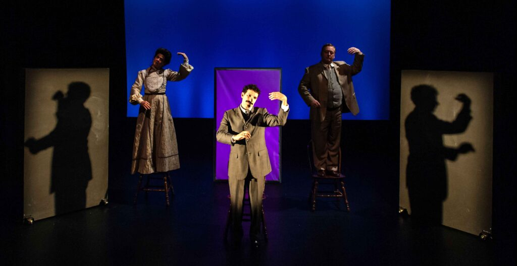 Debra Wise, Robert Najarian, and Steven Barkhimer in Einstein's Dreams. Photo: A.R. Sinclair Photography.
