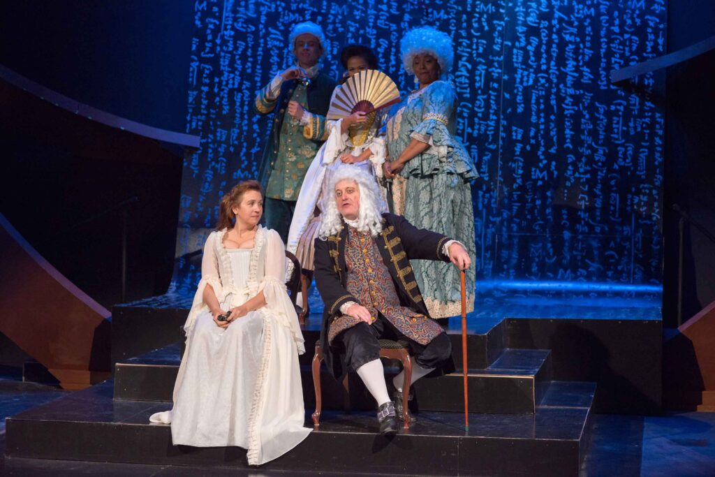 The cast of Emilie La Marquise du Charelet Defends Her Life Tonight. Photo: A.R. Sinclair Photography.